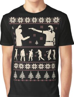 For The Walking Dead Fan Christmas Graphic T-Shirt