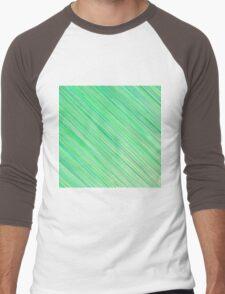 Green Grunge Line Pattern on White Background Men's Baseball ¾ T-Shirt