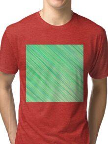 Green Grunge Line Pattern on White Background Tri-blend T-Shirt