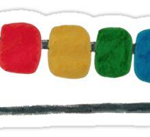 Rainbow Safety Pin Sticker