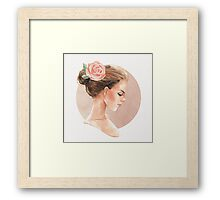 Romantic girl 3 Framed Print