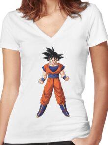 Goku DBZ Women's Fitted V-Neck T-Shirt