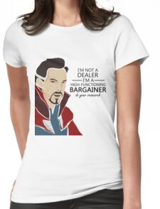Dr Strange the bargainer Womens Fitted T-Shirt