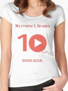 Matthew L Sparks | Youtube 10th Anniversary  Women's Fitted Scoop T-Shirt