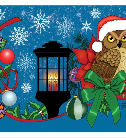 Holiday Owl Sticker