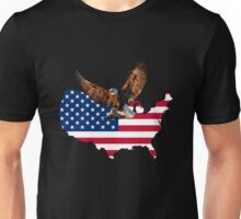 eagle-map-flag-USA Unisex T-Shirt