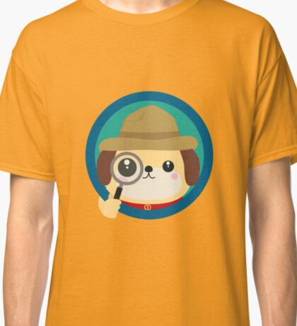 Dog detective with magnifying glass Classic T-Shirt