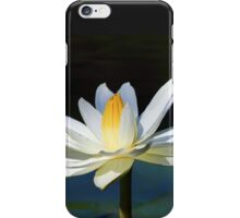 White Aquatic Lily iPhone Case/Skin