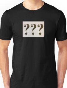 Question Marks Black on White Unisex T-Shirt