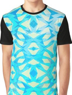 Zany Pattern Blue/Yellow Graphic T-Shirt