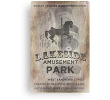 Lakeside Amusement Park Canvas Print