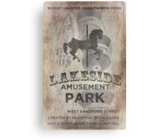 Lakeside Amusement Park Canvas Print