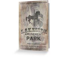 Lakeside Amusement Park Greeting Card