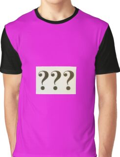 Question Marks Black on White Graphic T-Shirt