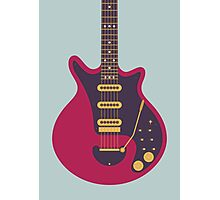 Brian May Red Special Guitar (Large Grey) Photographic Print