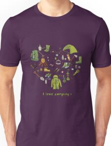 I love camping! Unisex T-Shirt