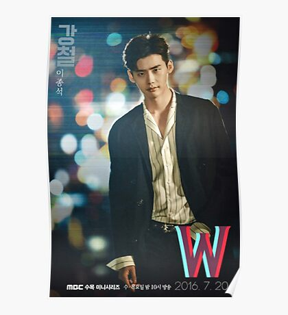 W - Two Worlds Drama Official Poster  Poster