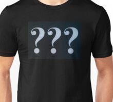 Question Marks White on Black Unisex T-Shirt