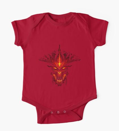 Evil Fire Dragon Design One Piece - Short Sleeve