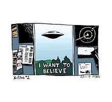 X-Files - I Want To Believe Photographic Print