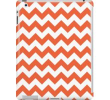 Orange retro Chevron pattern iPad Case/Skin