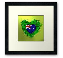 Love Australia Framed Print