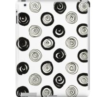New circles in shop : black and white iPad Case/Skin
