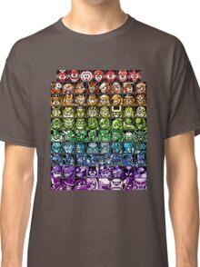 Mega Man Robot Masters Rainbow Classic T-Shirt