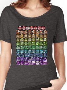 Mega Man Robot Masters Rainbow Women's Relaxed Fit T-Shirt
