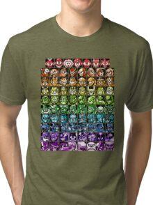 Mega Man Robot Masters Rainbow Tri-blend T-Shirt