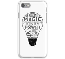 Official Lumos Be the Light T-shirt iPhone Case/Skin