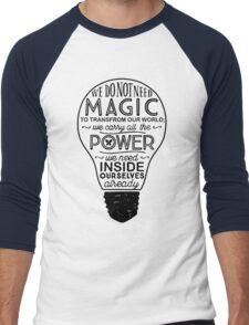 Official Lumos Be the Light T-shirt Men's Baseball ¾ T-Shirt