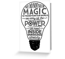 Official Lumos Be the Light T-shirt Greeting Card