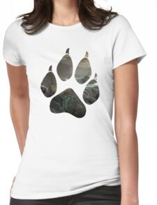 Lara Croft Stranded (Paw) Womens Fitted T-Shirt