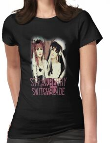 Strawberry Switchblade Womens Fitted T-Shirt