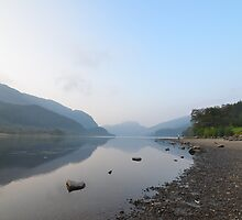 Fishing on Loch Lubnaig by Pete Johnston