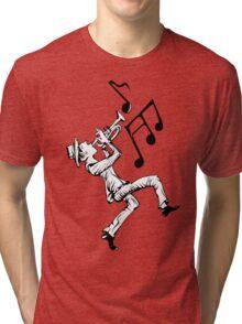 Pedestrian playing the trumpet Tri-blend T-Shirt