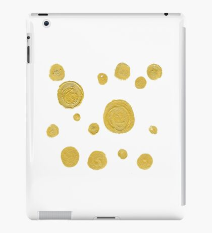 New art in shop : White and gold design iPad Case/Skin