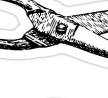 Cut It Out Scissors Sticker