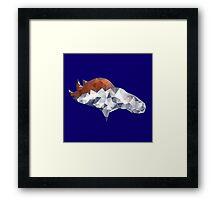 Denver Broncos Triangles Framed Print