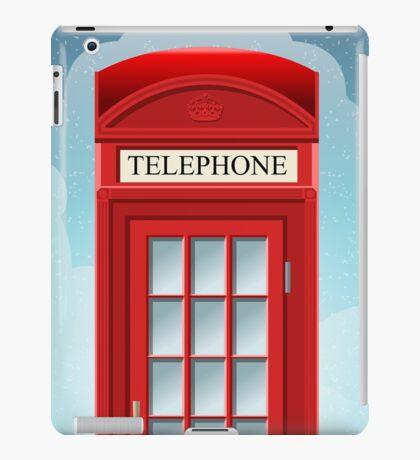 Red English Telephone Box iPad Case/Skin