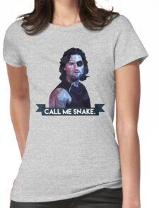 Snake Plissken Womens Fitted T-Shirt