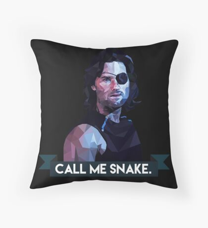 Snake Plissken Throw Pillow