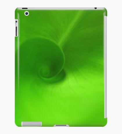 Green Swirl iPad Case/Skin