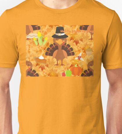 happy thanksgiving turkey  Unisex T-Shirt