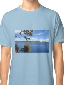 Beautiful natural landscape with the Ligurian Sea from Portofino. Classic T-Shirt