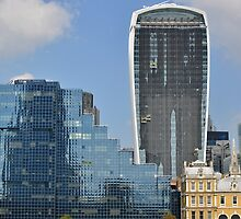 The Walkie Talkie Building by Barry Goble
