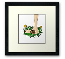 Barefoot on the grass  Framed Print