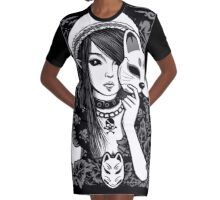 Elf Cat Graphic T-Shirt Dress