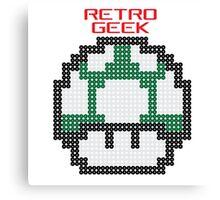 Retro Geek - One Up Canvas Print